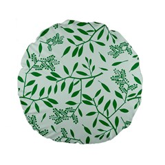 Leaves Foliage Green Wallpaper Standard 15  Premium Flano Round Cushions