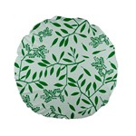 Leaves Foliage Green Wallpaper Standard 15  Premium Flano Round Cushions Front