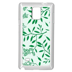 Leaves Foliage Green Wallpaper Samsung Galaxy Note 4 Case (white) by Nexatart