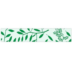 Leaves Foliage Green Wallpaper Flano Scarf (large) by Nexatart