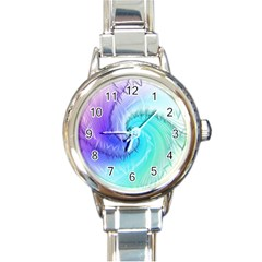 Background Colorful Scrapbook Paper Round Italian Charm Watch