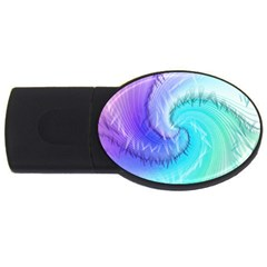 Background Colorful Scrapbook Paper Usb Flash Drive Oval (4 Gb) by Nexatart