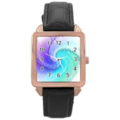 Background Colorful Scrapbook Paper Rose Gold Leather Watch  by Nexatart