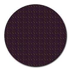 Pattern Background Star Round Mousepads by Nexatart
