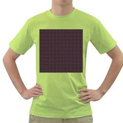 Pattern Background Star Green T Shirt
