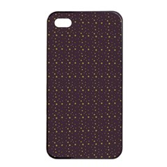 Pattern Background Star Apple Iphone 4/4s Seamless Case (black)