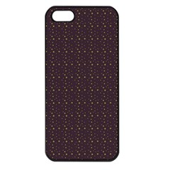 Pattern Background Star Apple Iphone 5 Seamless Case (black)