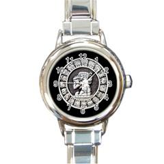 Pattern Motif Decor Round Italian Charm Watch