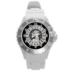 Pattern Motif Decor Round Plastic Sport Watch (l) by Nexatart