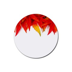 Abstract Autumn Background Bright Rubber Coaster (round)  by Nexatart