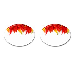 Abstract Autumn Background Bright Cufflinks (oval) by Nexatart