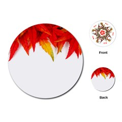Abstract Autumn Background Bright Playing Cards (round)  by Nexatart