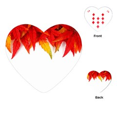 Abstract Autumn Background Bright Playing Cards (heart)  by Nexatart
