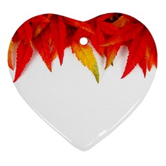 Abstract Autumn Background Bright Heart Ornament (two Sides)