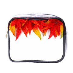 Abstract Autumn Background Bright Mini Toiletries Bags by Nexatart