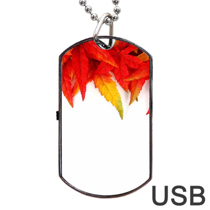 Abstract Autumn Background Bright Dog Tag USB Flash (Two Sides)