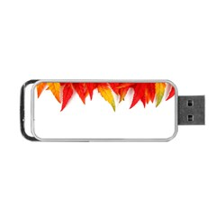 Abstract Autumn Background Bright Portable Usb Flash (one Side) by Nexatart