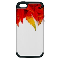Abstract Autumn Background Bright Apple Iphone 5 Hardshell Case (pc+silicone) by Nexatart