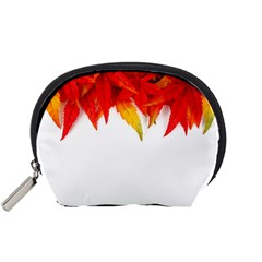 Abstract Autumn Background Bright Accessory Pouches (small)