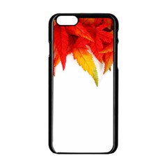 Abstract Autumn Background Bright Apple Iphone 6/6s Black Enamel Case by Nexatart