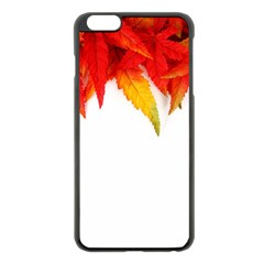 Abstract Autumn Background Bright Apple Iphone 6 Plus/6s Plus Black Enamel Case by Nexatart