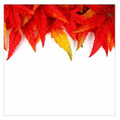 Abstract Autumn Background Bright Large Satin Scarf (Square)