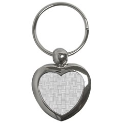 Flooring Household Pattern Key Chains (heart)  by Nexatart