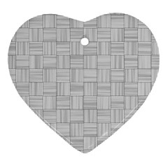 Flooring Household Pattern Heart Ornament (two Sides) by Nexatart