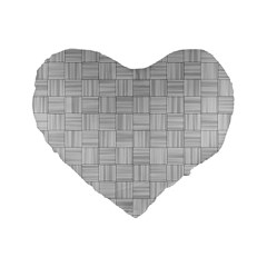 Flooring Household Pattern Standard 16  Premium Flano Heart Shape Cushions by Nexatart