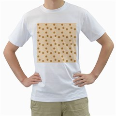 Pattern Gingerbread Star Men s T Shirt (white) (two Sided)