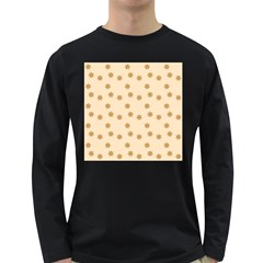 Pattern Gingerbread Star Long Sleeve Dark T Shirts