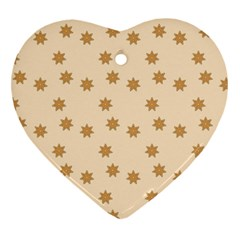 Pattern Gingerbread Star Heart Ornament (two Sides) by Nexatart