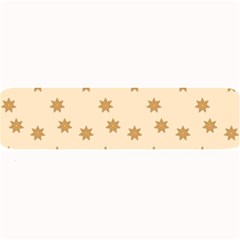 Pattern Gingerbread Star Large Bar Mats by Nexatart