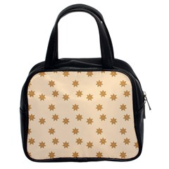 Pattern Gingerbread Star Classic Handbags (2 Sides)