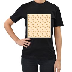 Pattern Gingerbread Star Women s T Shirt (black)