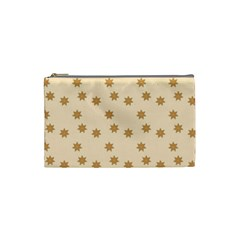 Pattern Gingerbread Star Cosmetic Bag (small)  by Nexatart