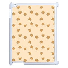 Pattern Gingerbread Star Apple Ipad 2 Case (white) by Nexatart