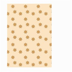 Pattern Gingerbread Star Large Garden Flag (two Sides) by Nexatart
