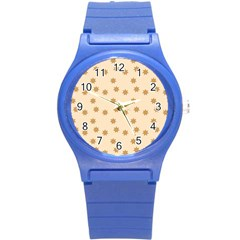 Pattern Gingerbread Star Round Plastic Sport Watch (s) by Nexatart