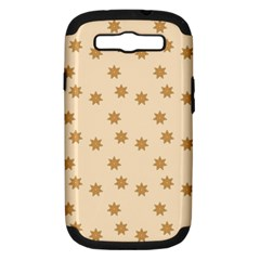 Pattern Gingerbread Star Samsung Galaxy S Iii Hardshell Case (pc+silicone) by Nexatart