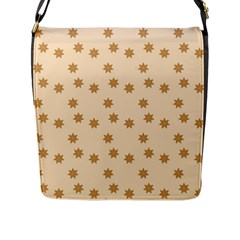 Pattern Gingerbread Star Flap Messenger Bag (l)
