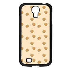 Pattern Gingerbread Star Samsung Galaxy S4 I9500/ I9505 Case (black) by Nexatart