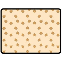 Pattern Gingerbread Star Double Sided Fleece Blanket (large)