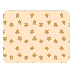 Pattern Gingerbread Star Double Sided Flano Blanket (large)  by Nexatart