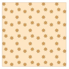 Pattern Gingerbread Star Large Satin Scarf (square) by Nexatart