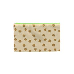 Pattern Gingerbread Star Cosmetic Bag (xs) by Nexatart
