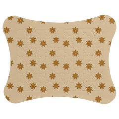 Pattern Gingerbread Star Jigsaw Puzzle Photo Stand (bow)