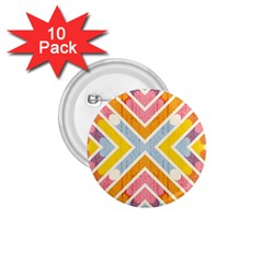 Line Pattern Cross Print Repeat 1 75  Buttons (10 Pack)