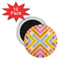 Line Pattern Cross Print Repeat 1 75  Magnets (10 Pack)  by Nexatart