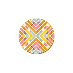 Line Pattern Cross Print Repeat Golf Ball Marker (10 Pack) by Nexatart